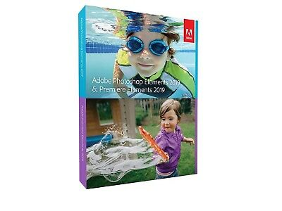 Adobe Photoshop Elements & Premiere Elements 2019 Mac/Win Sealed Retail Box