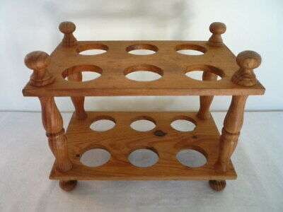 Two Tier Vintage Wooden Ware Egg Rack Holder Holds 12 Or 1 Doz Eggs Kitchenalia
