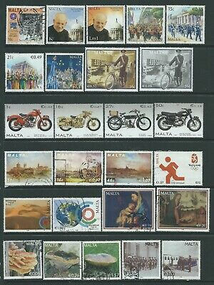 2 scans-Collection of mounted MINT & fine used Malta mini sheet & stamps.