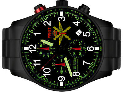 Astroavia Xl Air Craft Military Chronograph Fliegeruhr Famet Spain Edition Fn37