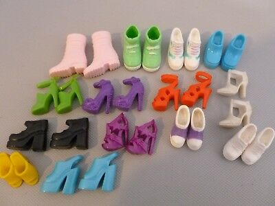 Barbie 13 Pairs of Shoes 1 Pair of Boots Ankle Strap Sneakers Platform Heels