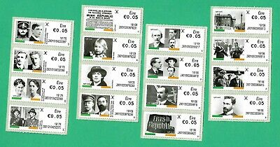 IRELAND-2016-4 STRIPS OF 4 X 5c STAMPS- EIGHTH DEFINITIVE SERIES