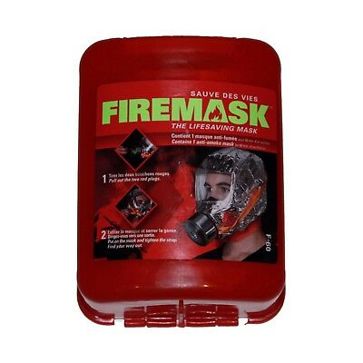Fire mask smoke hood - Provides 60 minutes of breathable air in a fire