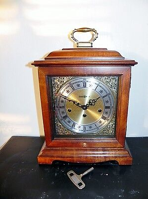 Howard Miller Mantel Shelf Clock Graham Bracket 612-437 Westminster Chimes & Key