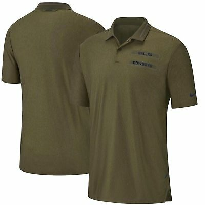 547fed251 New Dallas Cowboys Nike Salute to Service Sideline Dri-Fit Polo Olive men s  XL