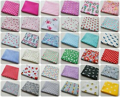 100% Cotton Fabric sold by Fat Quarter Sewing Craft Stars Dots Shabby Chic Mixed