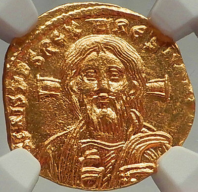 JESUS CHRIST on Justinian II ANCIENT Gold Coin Byzantine Empire NGC Certified MS