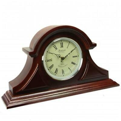 Bedford Clock Collection BED1430RW Redwood Mantel Clock with Chimes