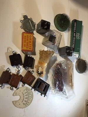 Lot of large vintage Capacitors And resistors from closed radio Repair Shop.