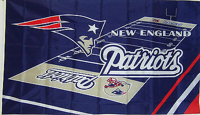 NEW ENGLAND PATRIOTS FIELD DESIGN FLAG NEW 3x5 ft nfl au