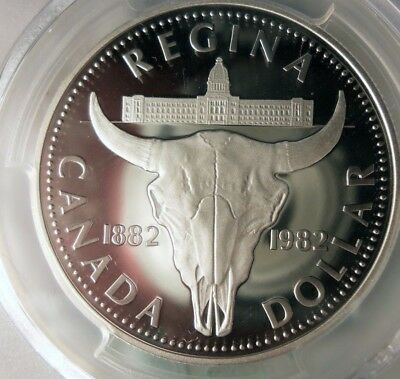 1982 CANADA DOLLAR - SILVER PROOF - PCGS PR69 DCAM - Awesome!! - Lot #F11