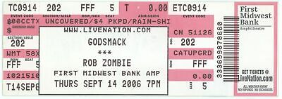 Cool GODSMACK & ROB ZOMBIE 9/14/06 Chicago IL Concert Ticket!