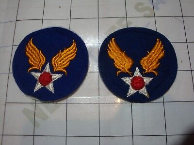 2x wwii military WW2 PATCH USAF Army Air Forces Tactical Center WOOL gauze