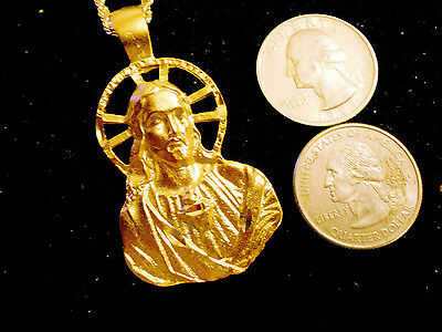 bling gold plated jesus cross crucifix catholic myth celt PENDANT charm necklace