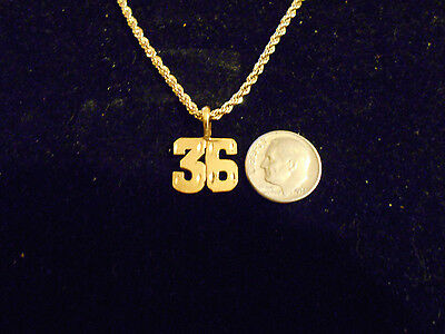 bling gold plated sports PLAYER number 36 pendant charm hip hop necklace JEWELRY