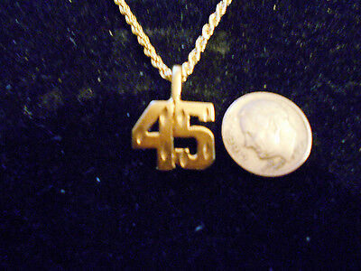 bling gold plated sportS PLAYER number 45 pendant charm hip hop necklace JEWELRY
