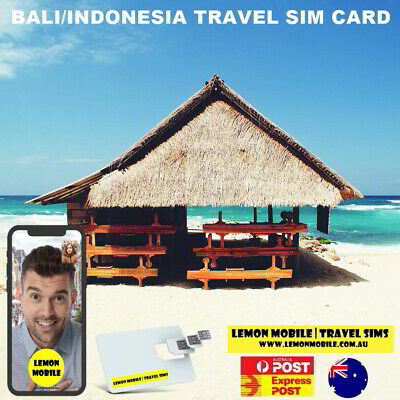 7/10/15 Days Bali Indonesia Travel SIM Card | Unlimited Data | XL Axiata network
