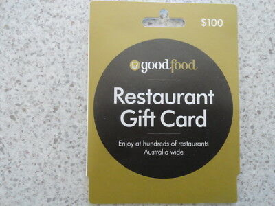 Good Food - Restaurant Gift Card - $100 - Unwanted Gift - Issued 09/18