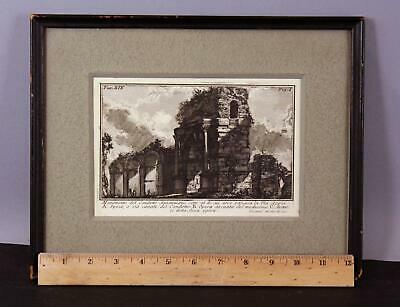 Antique 18thC Monumento del Condotto Antoniniano Giovanni Battista Piranesi