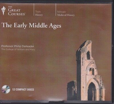 THE EARLY MIDDLE AGES by THE GREAT COURSES CD's ~ 12 CD'S 24 Lectures + PDF