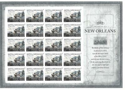 Us Scott 4952 Battle Of New Orleans Pane Of 20 Stamps Forever Mnh