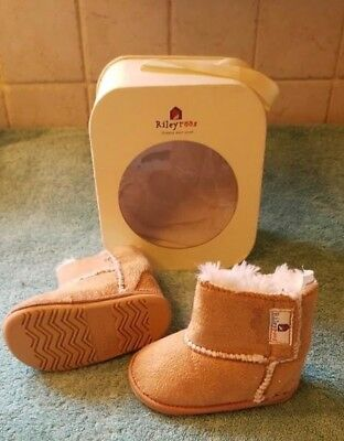 e85eaac615ab9 NEW RileyRoos Riley Roos Baby Shoes Boots Infant Girl s XS 3-6 Mo Crib ~