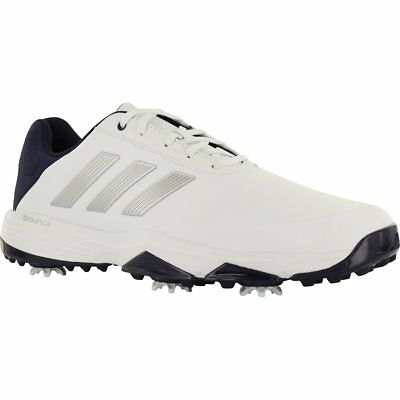 4a93b3517 New Adidas Mens Adipower Bounce Size 9 White   Navy  f33575 Golf Shoe  0731556