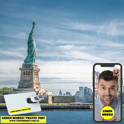7/10/15 Days United States/USA + Canada Travel SIM Card | Unlimited Data |