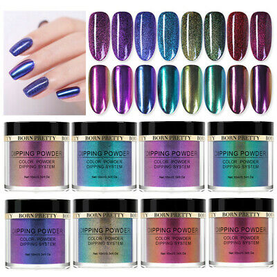 BORN PRETTY 10ml Chameleon Dipping Powder System Liquid Pro Nail Art NO UV Kit