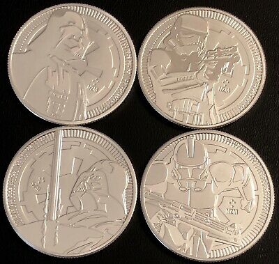 Lot Of 4 New Zealand Mint - Star Wars Bullion Vaders/stormtrooper/clonetrooper