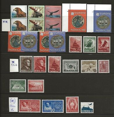 Norwegen:  Lot 27 Marken mixed ( 15x **, 8x *, 4x(*) )