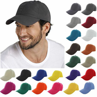 Baseball Cap Plain Solid Blank Washed Cotton  Style Ball Solid Color Hats