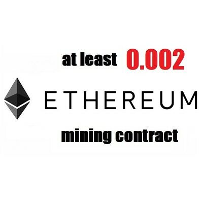 at least 0.01 Ethereum (ETH) 1 hour Cryptocurrency mining contract