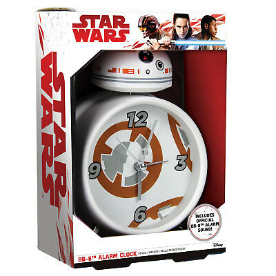 Star Wars BB-8 Wecker Single Klingel Kinder Erwachsene Force Awakens