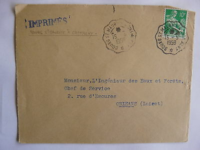FRANCE Letter Ob Conveyors of Line Bourg St Maurice has Chambery 1959