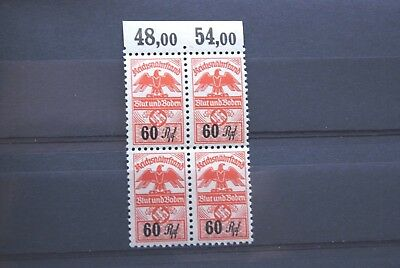 German Stamps. THIRD REICH GOVERNMENT STAMPS IN UMM BLOCK OF 4.