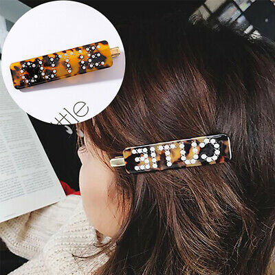 Sparkling Rhinestone Leopard Print Side Hairpin Women Hair Clip Headwear Rapture