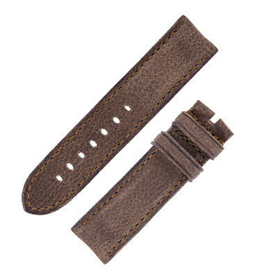 Rios1931 DERBY Genuine Vintage Leather Watch Strap with Buckle in MOCHA
