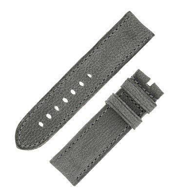 Rios1931 DERBY Genuine Vintage Leather Watch Strap with Buckle in STONE GREY