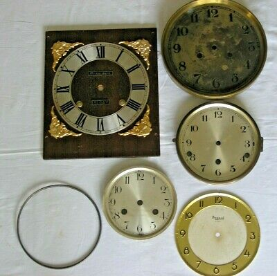 Job Lot of Antique / Vintage / Old Clock Faces for Spares / Repairs