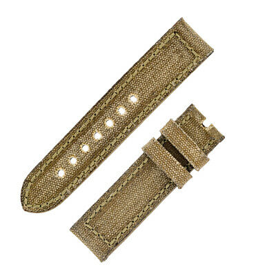 Rios1931 MARYLAND Genuine Vintage Canvas Watch Strap with Buckle in HONEY
