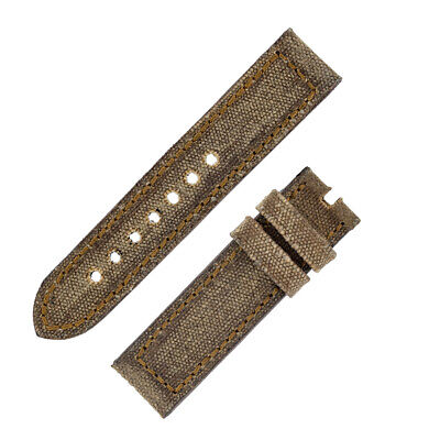Rios1931 MARYLAND Genuine Vintage Canvas Watch Strap with Buckle in COGNAC