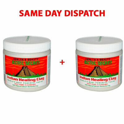 Aztec Indian Healing Clay X 2 Facial Deep Pore Cleansing Mask Skin Care Genuine