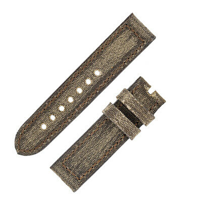 Rios1931 MARYLAND Genuine Vintage Canvas Watch Strap with Buckle in MOCHA