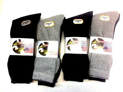 12 pairs or 24 pairs mens Cotton Rich Sport Socks-Work sock 6-11-ASSORTED