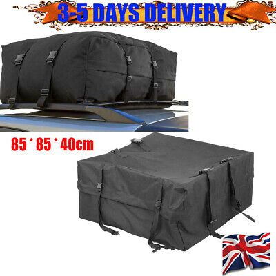85x85x40cm Car Travel Waterproof Roof Top Bag Cargo Pack Storage Luggage Holdall