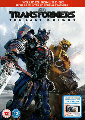 Transformers - The Last Knight DVD (2017) Mark Wahlberg ***NEW***