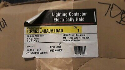 GE General Electric CR463L40AJA10A0 Lighting Contactor New ** New In Box **