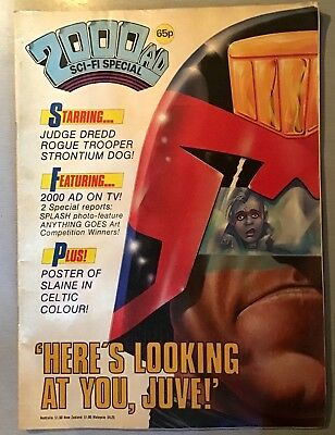 2000AD comic Sci-fi special 1986. Judge Dredd. Slaine the king poster.