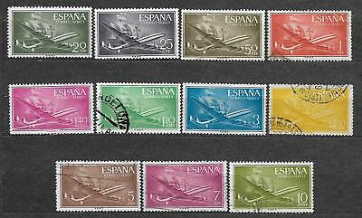 Spain small lot of used stamps Planes